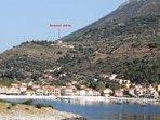Agia Efimia hill with the Horizon Villas on the top