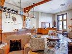 Perfect winter escape in Park City, Utah! The reception area in Sundial Lodge.