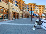 Just a short walk in ski boots to the Canyons at Park City Gondola or the heated Orange Bubble Express Chair Lift.