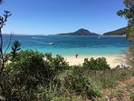 Shoal bay beach - across the road from the villa