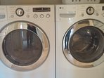 New Washer/Dryer for your convenience with supplies