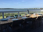 Host your evening meal on the deck spanning entire house while enjoying a waterfront sunset.