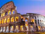 Nearby: night view of the Colloseum