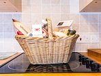 A basket for food from The Larder, a lovely local cafe and food shop