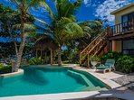 Casa Zama, a 3-6 BR villa on Half Moon Bay beach in Akumal, Mexico.
