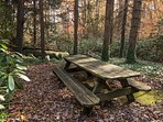 Creekside Picnic Area with Grill; Just steps away from the Cottage