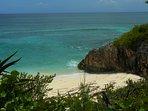 Another secret little romantic beach just 3 miles away in Hatchet Bay.