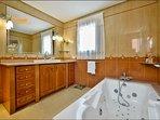 The en-suite master bathroom
