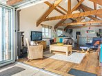 Open the Bi-fold doors and spend time gazing at the beautiful Cornish countryside.