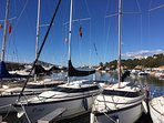 The nearby marina of Porto Senso, with plenty of water sports.