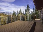 Enjoy Amazing Panoramic Views from the Deck of the Caretaker Suite