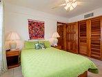 Ground floor bedroom with queen bed