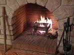 Feu de cheminée tous les soirs en hiver...