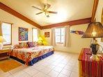 Master bedroom with king bed & en suite bath