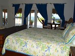 Upstairs Master Suite with California King Size bed and Sofa Bed sleeps 4