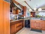 Generous modern kitchen with top-of-the-line appliances.