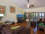 Spacious open floor plan--perfect for families to gather and visit.