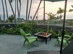 Hang out and relax in the evening by the fire pit