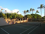 Community tennis courts.
