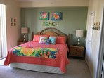 Master Bedroom:  King SIzed bed, walk in closet, flat screen TV