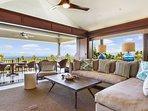Living Room and Lanai w/Ocean Views