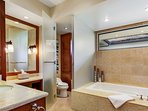 Master Bath w/Jetted Tub, His & Her Sinks