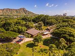 Just a short walk to the Waikiki Zoo!