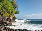 Adventurous guests will LOVE the hike down to this private beach.  Explore with care!