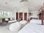 Bedroom 3 - Kids paradise,separate detached bedroom, with wet-bar, en-suite,  2 queen beds, 2 twin beds, and a twin...