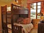 Bedroom 2 with Twin over Queen Captains Bunk Bed