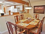 Lovely Dining Area adjacent to Full Kitchen