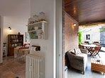 Accesso alla terrazza dal soggiorno living