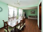 Dining room with park view and lot of space!