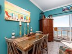 Crown molding completes this gorgeous beach home