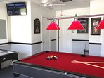 Games room & wall mounted TV