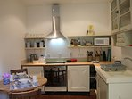 A small but well-equipped kitchen