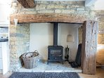 Gorgeous inglenook fireplace