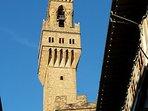the Palazzo Vecchio: 5 minutes walking