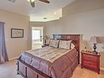 You'll have many great nights of sleep in this comfy queen-sized bed!