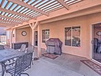 Take in the views and the fresh air on the covered patio!
