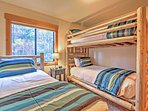 The kids will love choosing between the top and bottom bunks or their own individual twin-sized bed in this comfy...