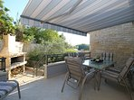 Outdoor dining area with another traditional barbecue - absolute privacy