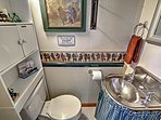 The half bath in the railcar ensures comfort and convenience.