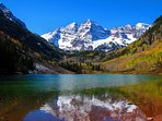 The Maroon Bells Wilderness Area is one of the most photographed areas in North America.  You just might see a moose on...