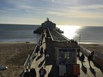 Bournemouth Pier, photo taken from Aruba wine and coffee bar 14.11.1 only 1 mile from  Alum Chine