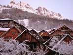 Vaujany village in the winter before early ski