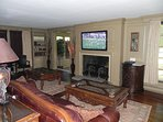 Great Room with TV Passage Thru Screened Porch
