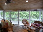 Enjoy sitting on the screened in porch