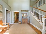 Step inside the beautiful 'Carriage House' to find a beautifully decorated interior.