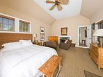 The ceiling fan is sure to keep you cool while drifting off to sleep.
